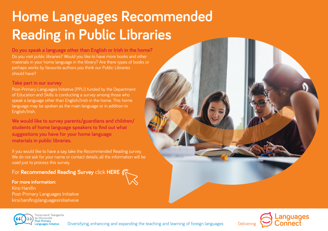 Home languages in libraries
