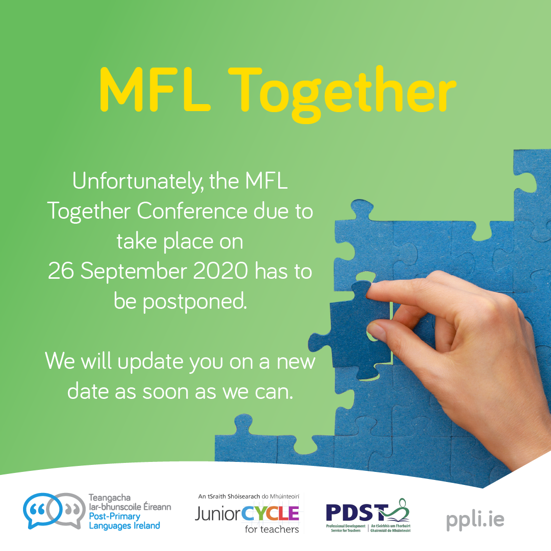 Mfl together postponed poster